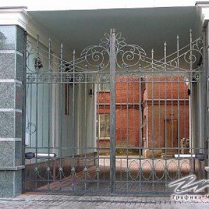 Ворота распашные кованые ХК-ВР-5