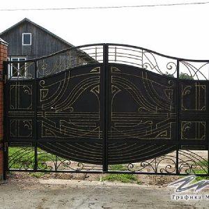 Ворота распашные кованые ХК-ВР-6