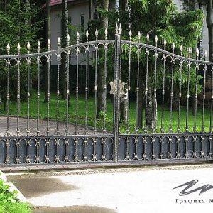 Ворота распашные кованые ХК-ВР-7