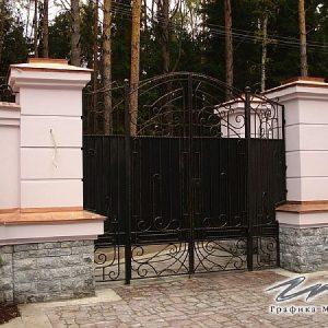 Ворота распашные кованые ХК-ВР-8