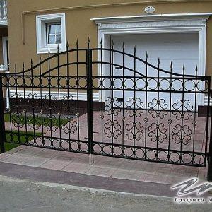 Ворота распашные кованые ХК-ВР-9
